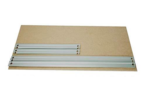HDF Boden 80 x 40 cm mit Traversen als Zusatzboden oder Ersatzboden für Schwerlastregal Stecksystem: Metallregal geeignet als Kellerregal, Lagerregal, Archivregal, Ordnerregal, Werkstattregal
