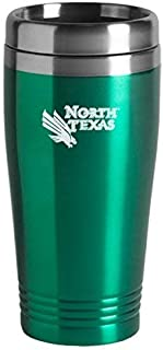 University of North Texas - 16-ounce Travel Mug Tumbler - Green