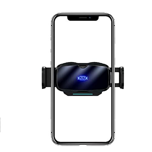 Soporte Movil TeléFono de Salida de Aire de Apertura y Cierre de inducción de Metal eléctrico para automóvil Suministros automáticos,Black