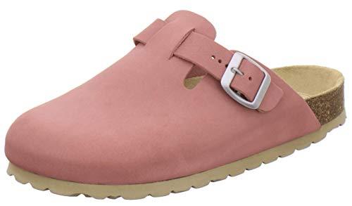 AFS-Schuhe 2900, Bequeme Damen Hausschuhe, Clogs aus Leder, Made in Germany (40 EU, rosato)
