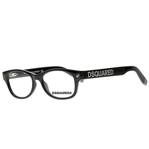 Schwarz 51.0 Uomo Nero Dsquared2 Brille DQ5176 001 51 Montature