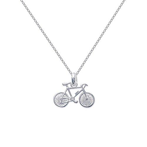 Set mit Fahrrad-Anhänger (Tour de France) und 50cm langer Kette, beide aus Sterling-Silber 925