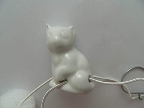Lindner Porzellan Tropfenfänger Katze, weiß, für Kaffee- oder Teekannen, Tier Katzen Kätzchen