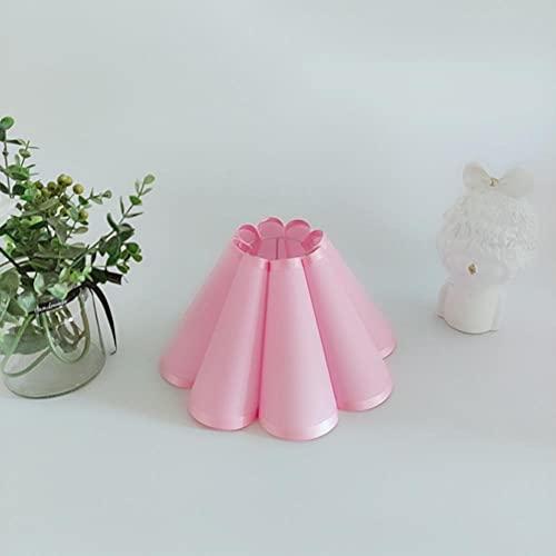 WNAVX Pantalla PVC Pantalla de PVC para lámparas de Escritorio de Trabajo E14 Lámpara E27 Petal Lámpara Shade para Techo araña (Body Color : Pink)