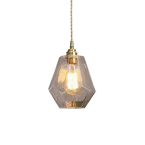Chandelier Agriturismo Vintage Art Decorazione Appeso Light Loft Antico Antique Creativo Lampada di vetro Sfumato Interno Pendente in ottone Pendente Soggiorno Camera da letto Plafoniera Hallway Light