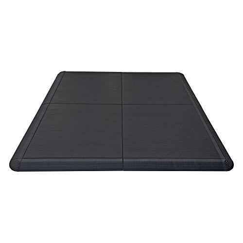 Nicoman Pisos de danza, Tap Ballet Dancing Flotante Portátil Sistema de Sprung Flooring, Diseño de grano de madera negra, 4 piezas