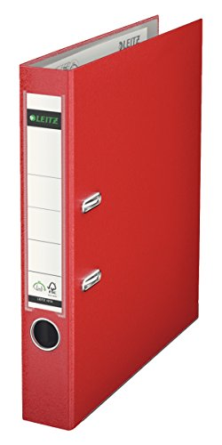 Leitz 10155025 Qualitäts-Ordner (Plastik-Cover, A4, 5,2 cm Rückenbreite) rot