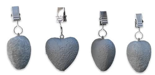MW Handel 4er Set Tischtuchbeschwerer Motiv Tischdeckenhalter Tischdeckengewichte (Herzen)
