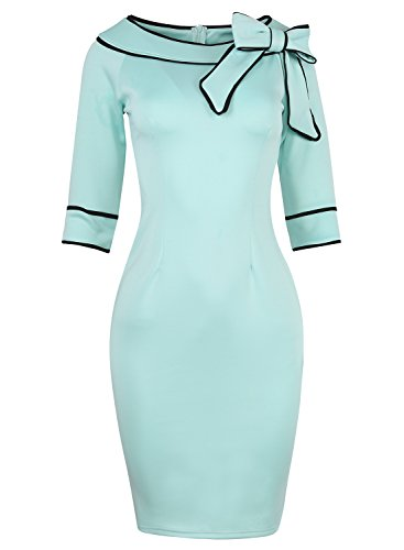 Women's 1950s Vintage Half Sleeve Wear to Work Casual Business Office Pencil Sheath Dress 172