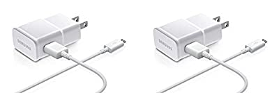 Samsung OEM 2-Amp Adapter with 5-Feet Micro USB Data Sync Charging Cables - Non-Retail Packaging - White