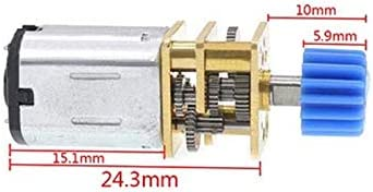 Color : 100 RPM, Size : 3V HH-BSDJ 1pc N20 DC 3//6//12V Micro Speed Gear Motor 15-300RPM Reduction Gear Motor Electric Metal Gear Reducer Motor with Gear Wheel