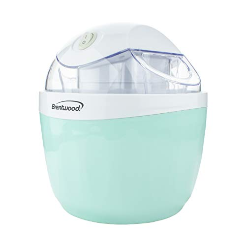 Brentwood TS-1410BL 1 Quart Ice Cream and Sorbet Maker, Frozen Yogurt, Gelato, and Custard Machine, Blue