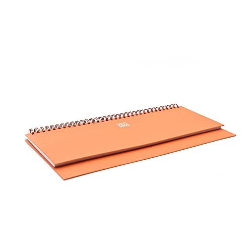 takestop Planning da Tavolo Agenda 2022 Arancione Arancio Settimanale Spirale Spiralato 30x15 CM Diario Blocco Notes Copertina Rigida