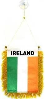 AZ FLAG Ireland Mini Banner 6'' x 4'' - Irish Pennant 15 x 10 cm - Mini Banners 4x6 inch Suction Cup Hanger