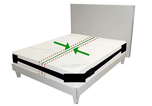 Cinghia di Fissaggio per materassi, per Letti Fino a 200 x 200 cm |Bed Connector Strap Bed Gap Filler Kit di conversione connettore per letto gemellato, per realizzare letti singoli nel letto King
