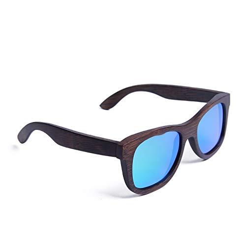 Ynport Crefreak gepolariseerde bamboe houten zonnebril voor mannen vrouwen - handgemaakte zonnebril met hoesje