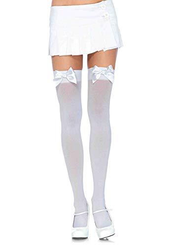 Leg Avenue Bas Comme Un Cadeau Blanc Plus Size