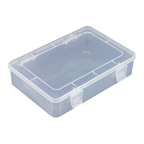 Ousyaah Caja de Almacenamiento de Plástico Transparente, Cajas de Almacenamiento de Joyas,...