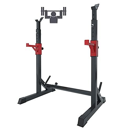 EEUK Rack Squat Regolabile per Bodybuilding, Supporto per Bilanciere, Power Weight Bench Support per Bilanciere Free-Press Bench,260 kg di Carico Massimo