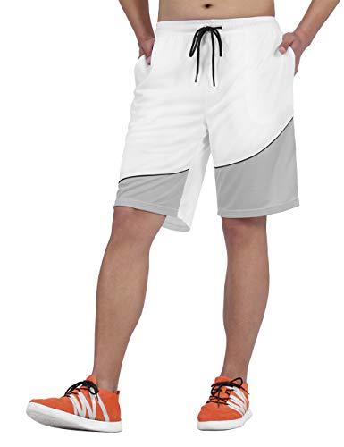 DISHANG Men's Cool Basketball Shorts Mesh Quick Dry Gym Shorts with Pocket...
