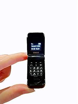 LONG-CZ J9 World Mini Smallest Flip Mobile Phone Unlocked  Black