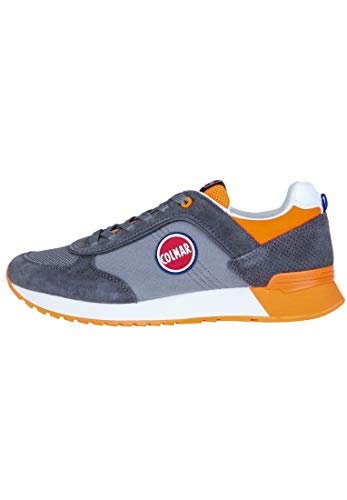 Colmar Travis Colors 018, Sneakers da Uomo, Gray/Orange, 42 EU