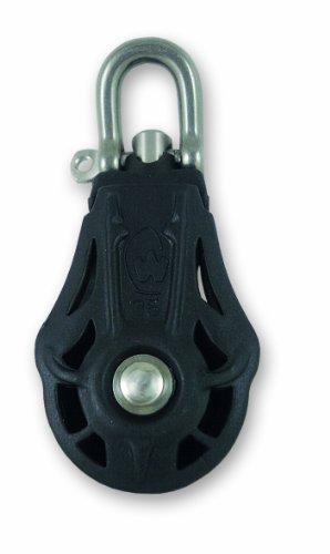 Polea con grillete giratorio - Acero inoxidable - 400 kg - Diámetro 35 mm - Para cuerda de 9 mm de diámetro