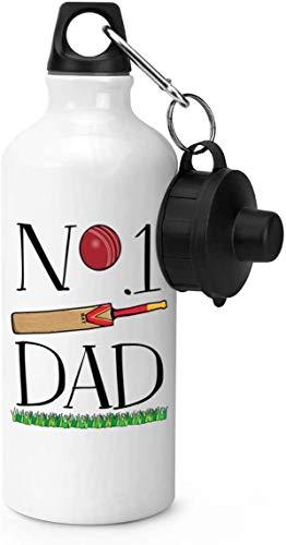 600ml Sportwasserflasche,Nr. 1 Dad Cricket Gym 20 Unzen Aluminium Gym Sportwasserflasche