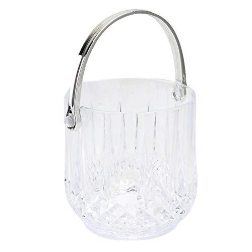 TOPBATHY 1 cubo de hielo de cristal acrílico, barra creativa de almacenamiento de hielo transparente
