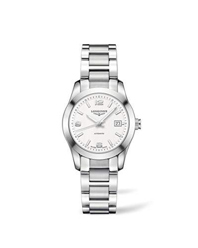 Longines Reloj Análogo clásico para Mujer de Automático con Correa en Acero Inoxidable L22854766
