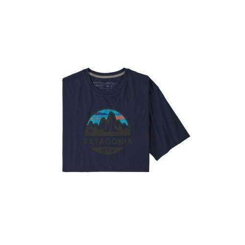 Patagonia M's Fitz Roy Scope Organic T-Shirt pour Homme, Bleu Marine Classique, M