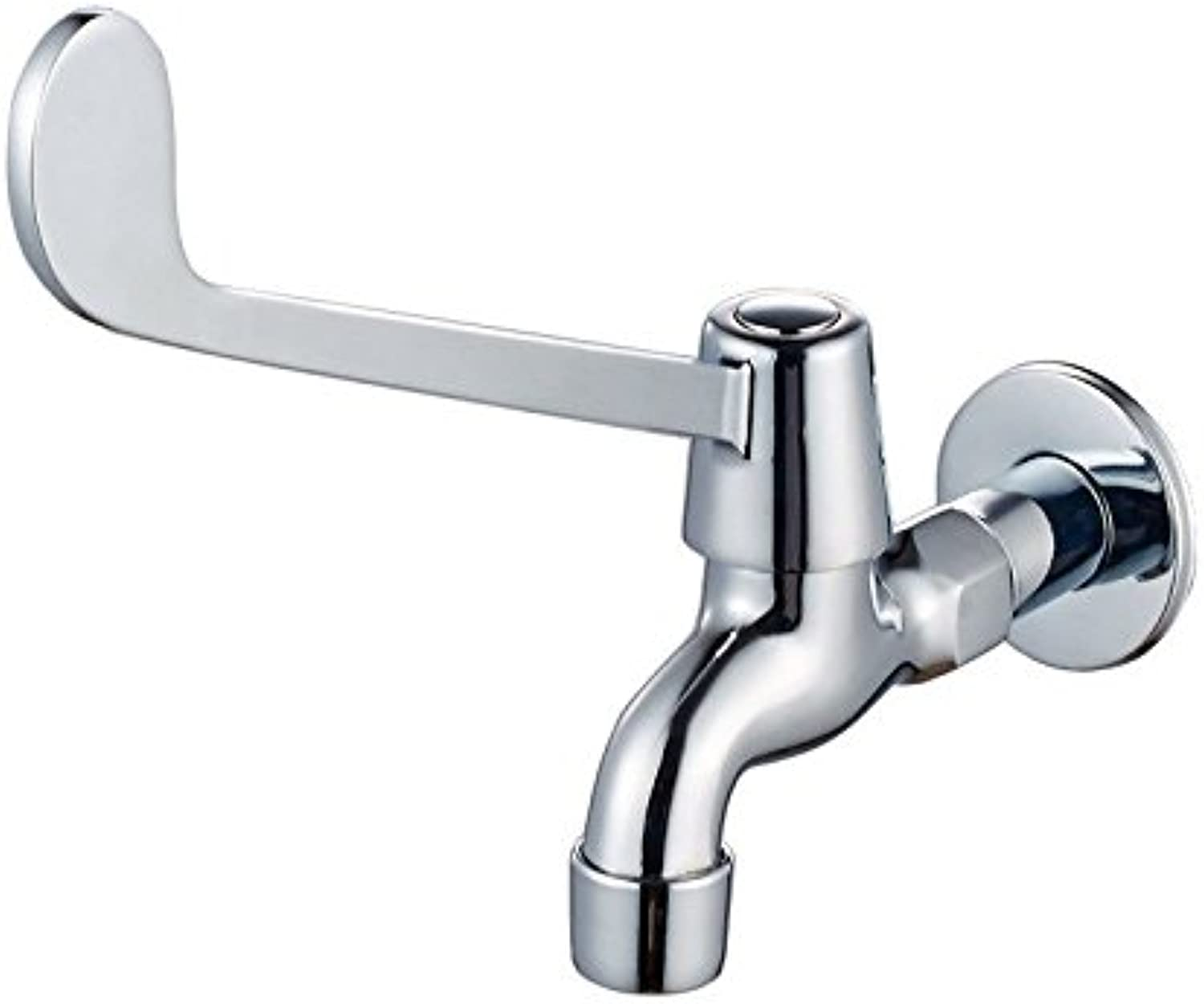 Lalaky Taps Faucet Kitchen Mixer Sink Waterfall Bathroom Mixer Basin Mixer Tap for Kitchen Bathroom and Washroom Full Copper in-Wall Elbow Open Long Handle Elbow Touch