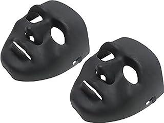 2 قناع هالوين - أسود
