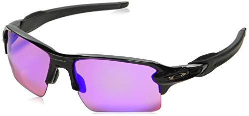 Oakley Men's OO9188 Flak 2.0 XL Rectangular Sunglasses, Polished Black/Prizm Golf, 59 mm