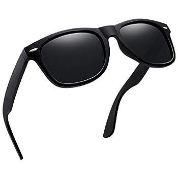 Joopin Unisex Polarized Sunglasses Men Women Retro Designer Sun Glasses  Matte Black Simple packaging