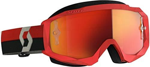 Scott Hustle X MX Goggle Cross/MTB Brille rot/grau/orange Chrom Works