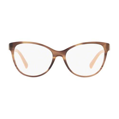 Bulgari 0BV 4151 5240 54 Gafas de sol, Marrón (Striped Brown), Mujer