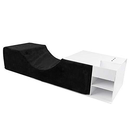 Knowled Kit de coussin pour extensions de cils, en cuir synthétique imperméable et acrylique, support professionnel pour le cou et les cils - Pour salon de beauté