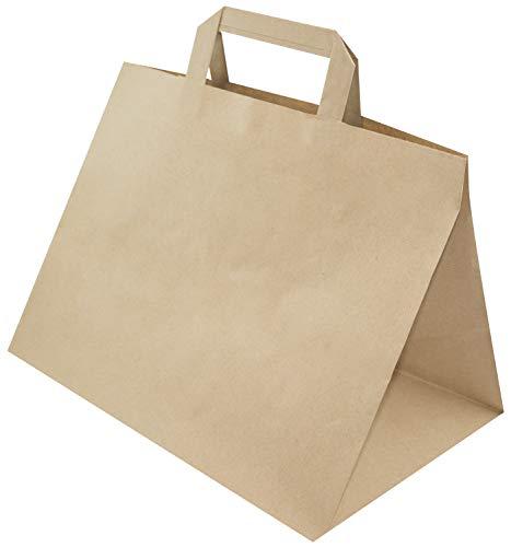 Papiertasche mit Flachhenkel 32x22x24,5cm Braune (25)
