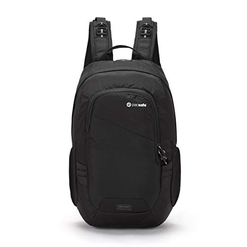 Pacsafe Luggage Travel Backpack Black, 15 Liter Venturesafe 15L GII Anti-Theft Daypack, Color (60280100)