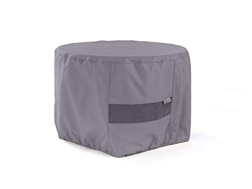 Covermates Round Firepit Cover – Water-Resistant Polyester, Mesh Ventilation, Fire Pit Covers - Charcoal