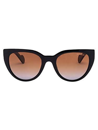 Luxury Fashion | Moncler Dames ML00765005F05F Zwart Metaal Zonnebrillen | Seizoen Permanent