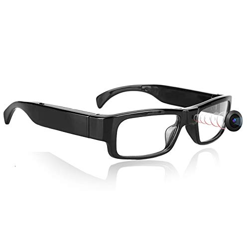 KAMRE 1080P Camera Glasses Mini Video Recording Glasses Wearable Camera Eye Glasses, Great Gift for Your Family and Friends