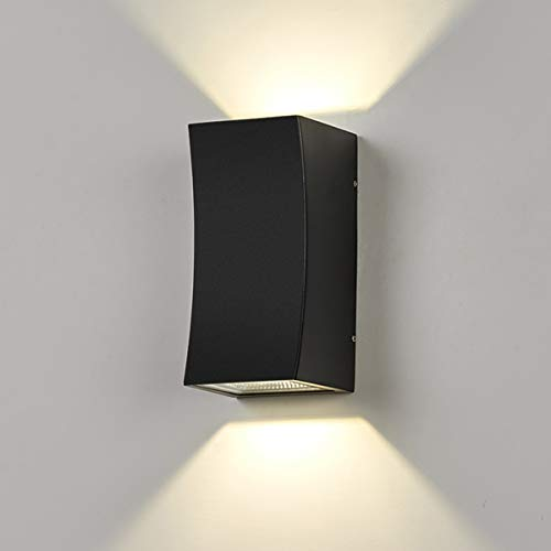 Dr.lazy 12W LED Apliques de exterior,Focos pared balcón,Apliques de Pared Lámpara Moderno,1200 Lúmenes,Aplique para...