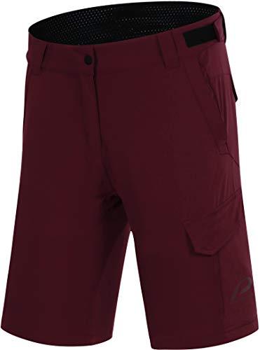 Protective P-Deer Dance Pantalones cortos de ciclismo para mujer, color rojo, talla EU 44 | XXL 2021