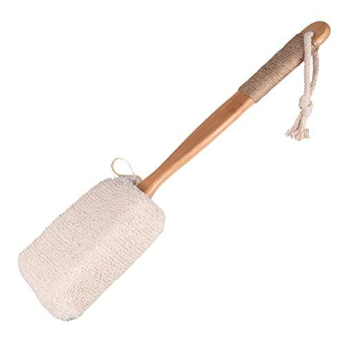 TOPBATHY Brosse de Bain en éponge pour Le Dos, Manche Long en Bambou, Brosse de Massage Spa pour épurateur du Corps