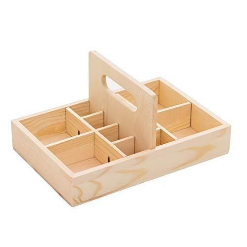Ramingt-Home Olie opslag etherische olie-opbergbox met handgrepen van hout Olie-kist houder van hout etherische oliën opbergdoos voor etherische olie en accessoires