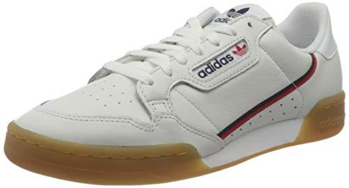 Adidas Originals Continental 80, Zapatillas para Correr Hombre, Crystal White/Collegiate Navy/Scarlet, 44 2/3 EU