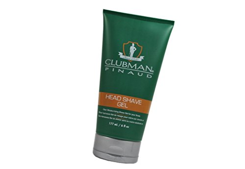 Clubman Head Shave Gel Clear Moisturiizing Shave Gel For Your Scalp. Smooth, slick and just the right amount of slip for a close shave.- Size 6 Fl.oz / 177 ml by Clubman