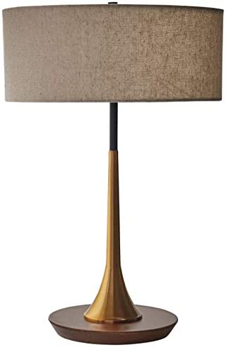 Amazon Brand Rivet Mid Century Modern Curved Brass Table Desk Lamp With LED Light Bulb 14 3 product image